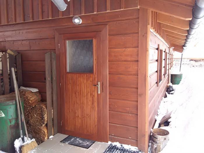 Vchod do nové chaty